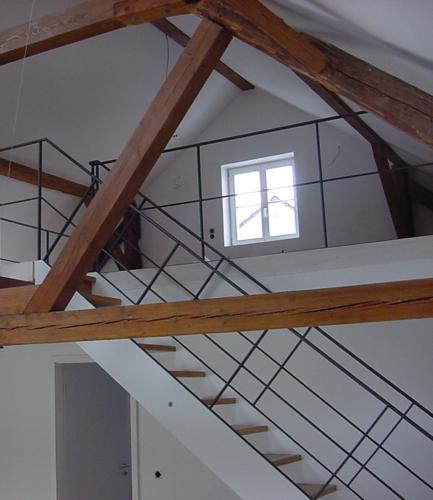 Wangentreppe im Dach